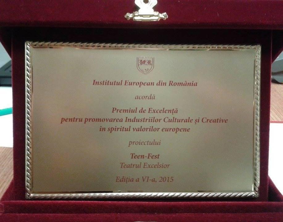 teatrul excelsior. diploma premiile de excelenta ier 2015