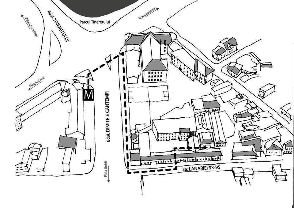 Harta Centrul de Teatru Educaţional Replika - Bucureşti