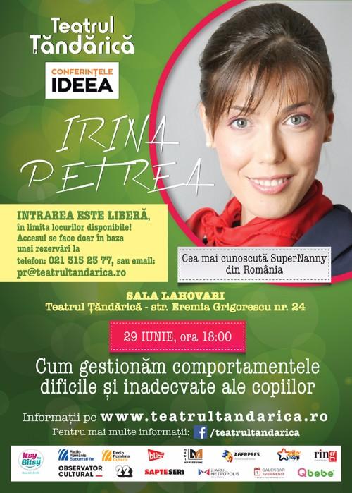 """afiş Conferinţa """"Gestionarea comportamentelor dificile şi inadecvate ale copiilor"""" - Teatrul Ţăndărică"""