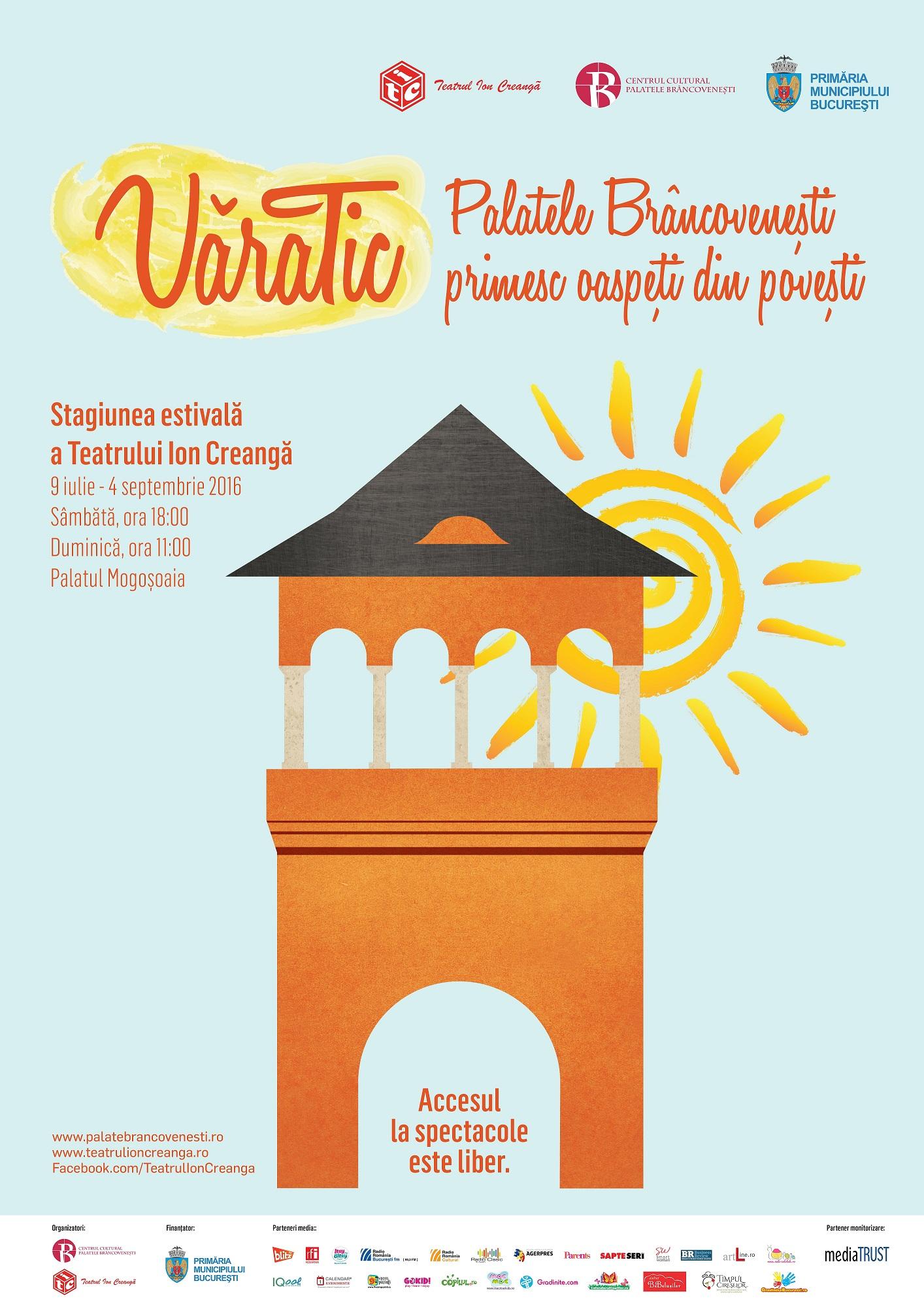 afiş Stagiunea estivală VăraTic - Teatrul Ion Creangă