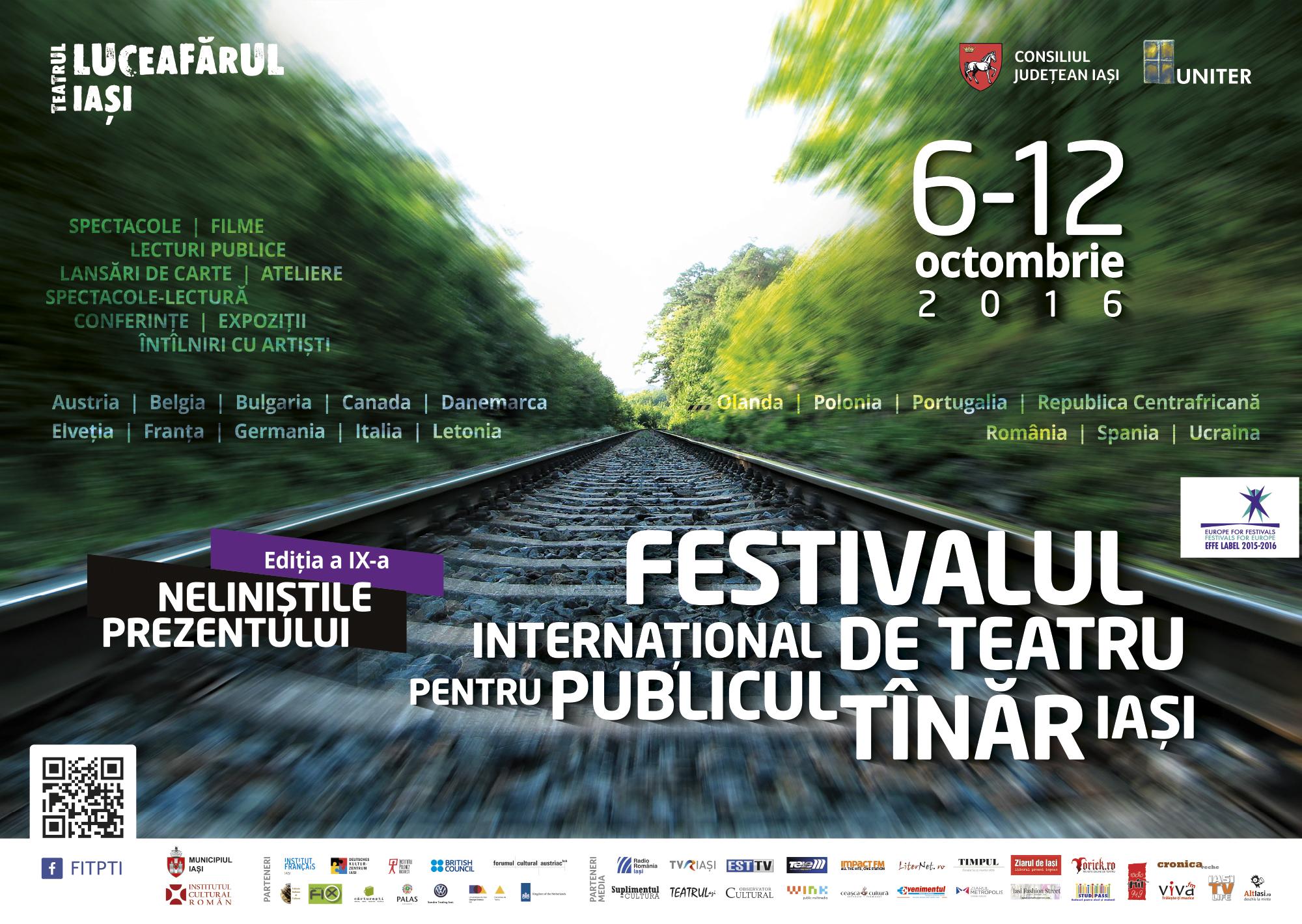 afiș Festivalul Internațional de Teatru pentru Publicul Tânăr. Iași 2016