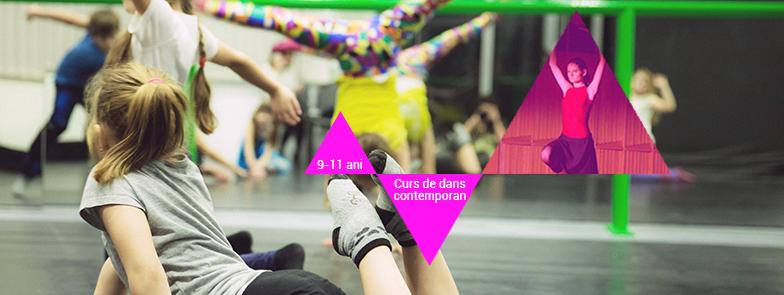 Cursuri de dans contemporan pentru copii între 9 și 11 ani la CNDB