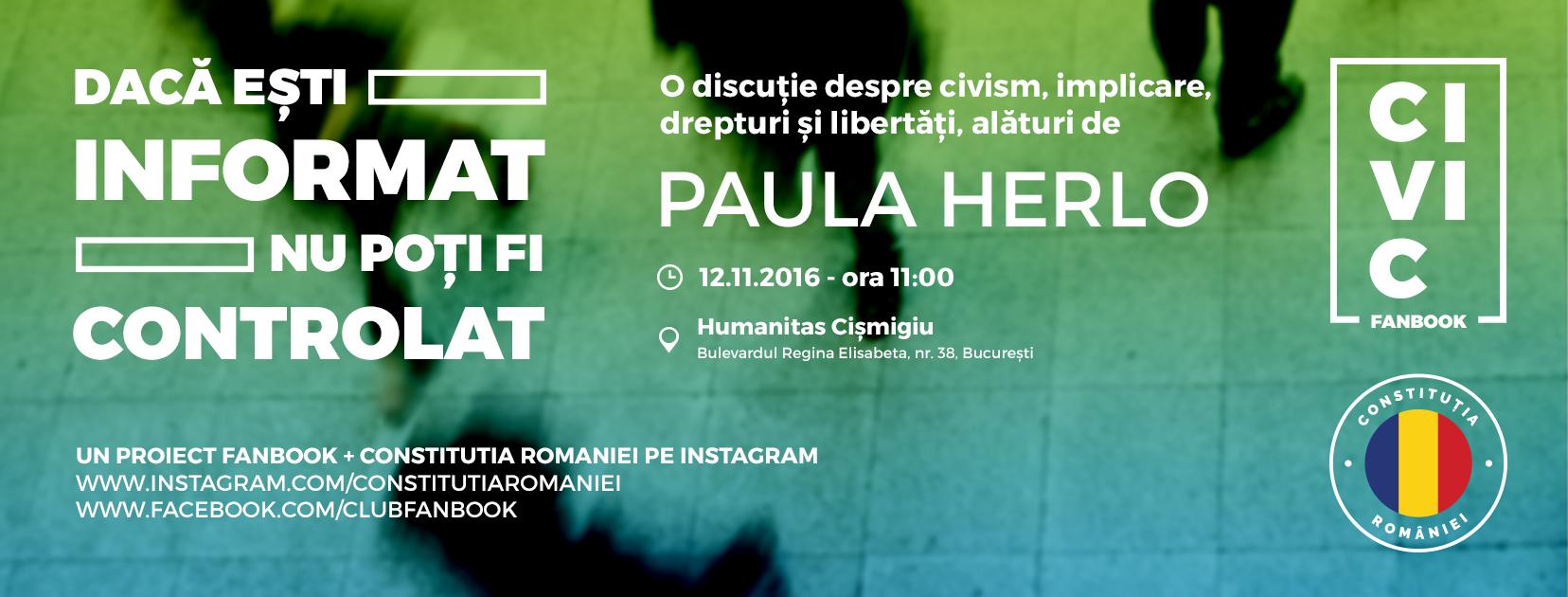 Civic Fanbook-12 noiembrie, Librăria Humanitas de la Cișmigiu