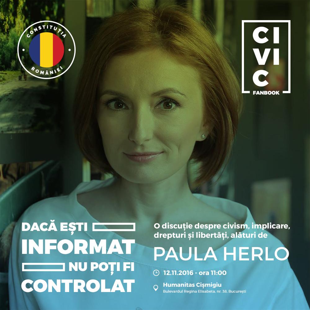 CIVIC FANBOOK - Librăria Humanitas de la Cișmigiu. 12 noiembrie