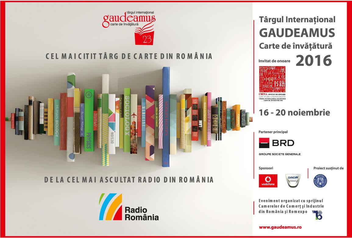 afiș Târgul Internațional GAUDEAMUS - Carte de învățătură - București 2016